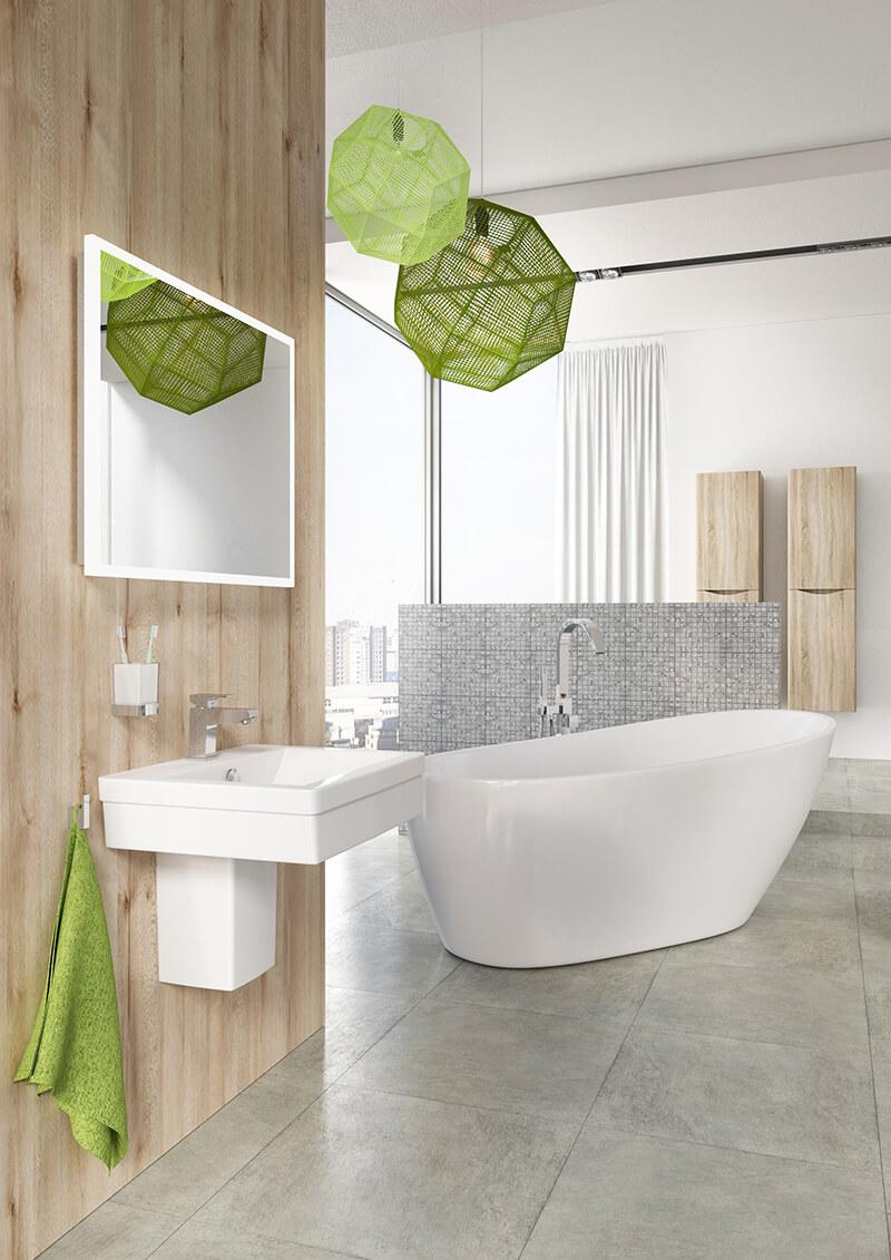 Porcelain or Ceramic Tiles Bathroom Flooring