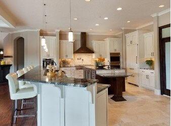 What is a broken plan kitchen layout?